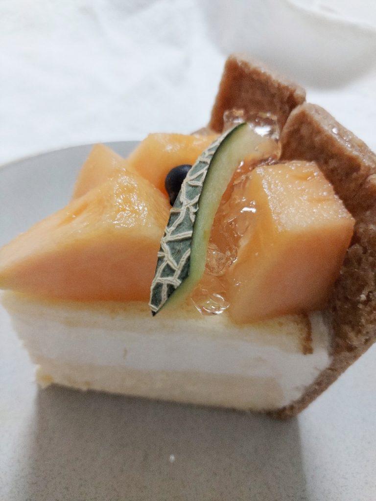 宮古島メロンキセキノチーズケーキメロン部分