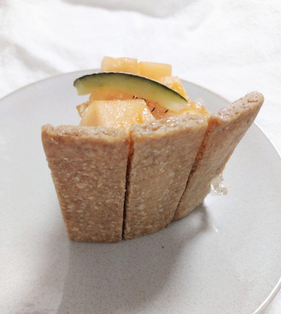 宮古島メロンキセキノチーズケーキのサブレ部分